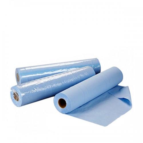 Еднократни TNT чаршафи ролка в синьо 60 см или 70 см