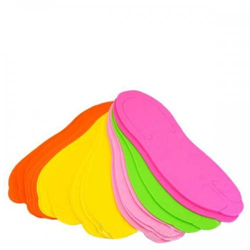 Чехли за педикюр - цветни, 12 чифта