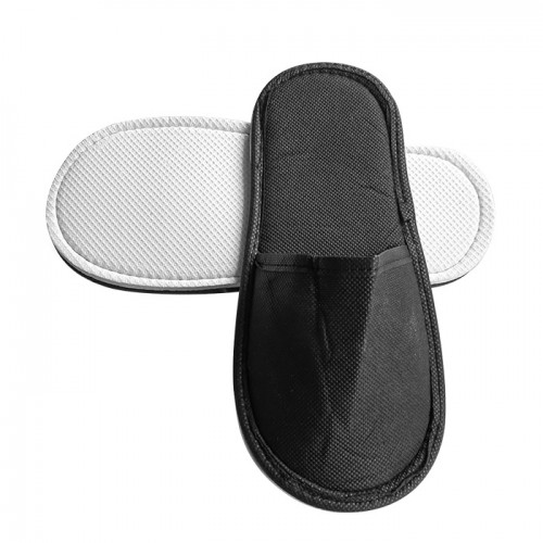 Еднократни плътни ТНТ чехли, Черен цвят