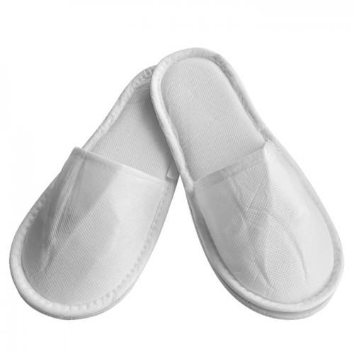 Еднократни плътни ТНТ чехли, Бял цвят