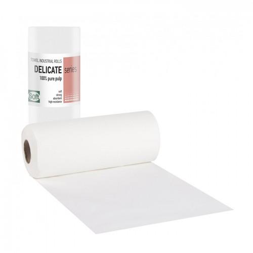 Плътни двупластови хартиени кърпи на ролка Softcare