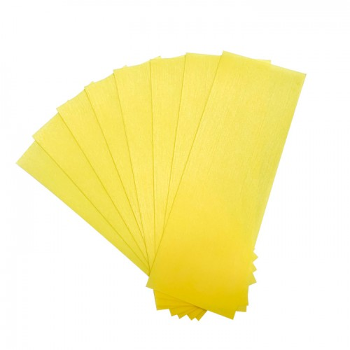 Нарязани ленти за кола маска Debyline жълти 50 броя