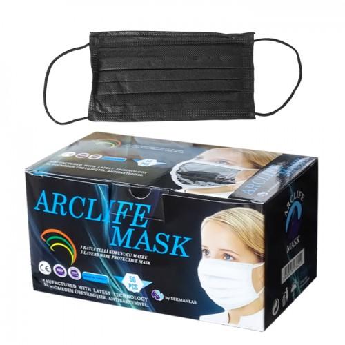 Трислойни медицински маски, еднократни - Arclife mask, 50 броя