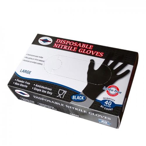 Предпазни ръкавици за еднократна употреба от нитрил, без талк, 40бр
