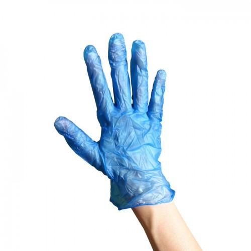Ръкавици от винил сини 100 броя L размер