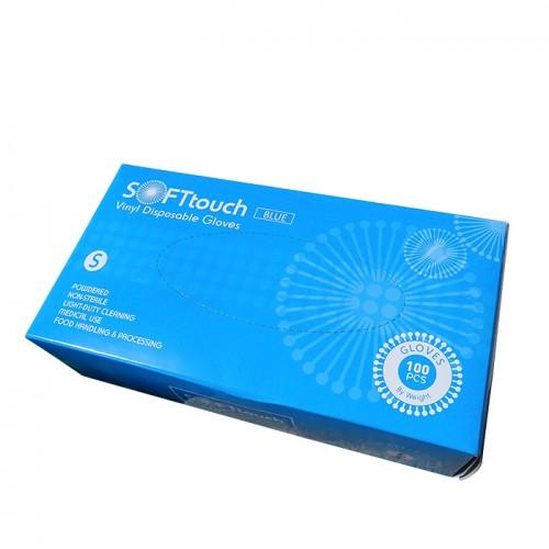 Soft touch еднократни предпазни ръкавици с пудра 100 броя S размер