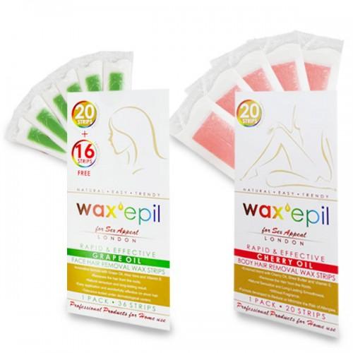 Комплект с депилиращи ленти WaxEpil - за лице и тяло