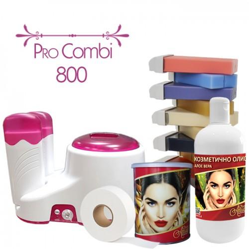 Професионален пакет за епилация с кола маска Pro Combi 800