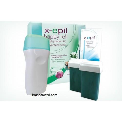 Сет за епилация с кола маска и нагревател X-Epil happy Roll
